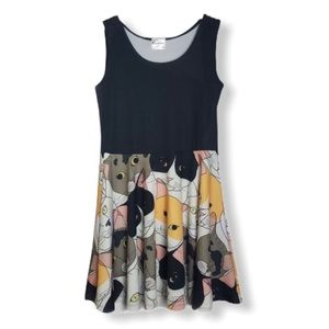 CowCow Multi Cats Fit and Flare Skater Dress